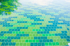 Green tile texture background Royalty Free Stock Photography
