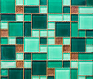 Green tile. S can decorate the bathroom royalty free stock photography