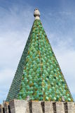 Green tile tower Stock Images