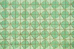 Green tile wall Stock Photo