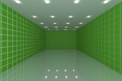 Green tile wall Royalty Free Stock Photo