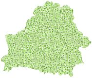 Green tiled map of Belarus Royalty Free Stock Photo