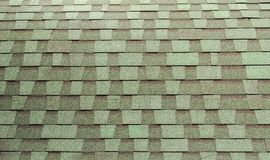 Green tiled roof Stock Images
