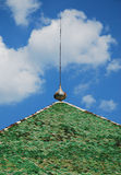 Green Tiled Roof Stock Photography
