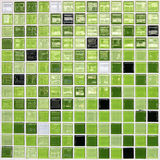 Green tiled wall Royalty Free Stock Image