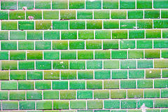 Green tiled wall Stock Photography