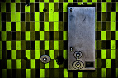 Green tiles Stock Images