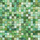 Green Tiles Background Stock Photo
