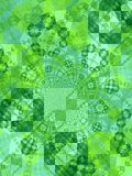 Green Tiles Squares Texture. An abstract quilt pattern of blocks, tiles and squares in a texture of green colors and tones royalty free stock photos