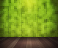 Green Tiles on the Wall Interior Royalty Free Stock Photos