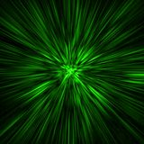 Green time-tunnel Royalty Free Stock Image