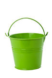 Green tin bucket on white background. Stock Image