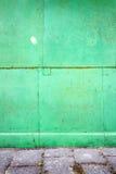 Green tin wall Royalty Free Stock Photos