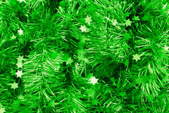 Green tinsel Royalty Free Stock Photos