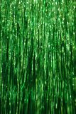 Green Tinsel Background royalty free stock photo