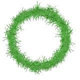 Green tinsel Christmas border, frame. Cutout, isolated. Royalty Free Stock Photo