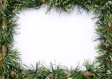 Green tinsel christmas garland Royalty Free Stock Photography