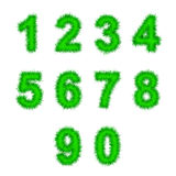 Green tinsel digits on white Royalty Free Stock Photos