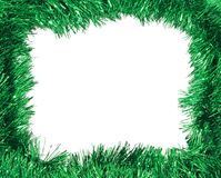 Green tinsel frame Royalty Free Stock Photo