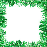 Green tinsel frame Royalty Free Stock Photos