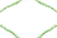 Green tinsel frame Stock Images