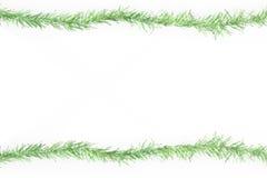 Green tinsel frame Stock Image