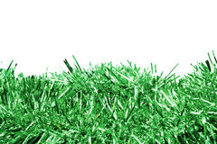 Green tinsel Stock Photography