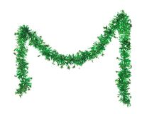Green tinsel with stars. stock images