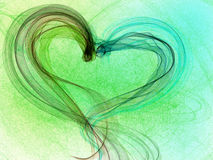 Green tint heart Royalty Free Stock Photos