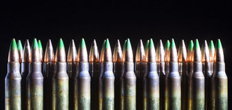 Green tipped ammo Stock Photos