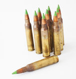 Green tipped ammo Royalty Free Stock Photography