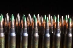 Green tipped bullets royalty free stock photos