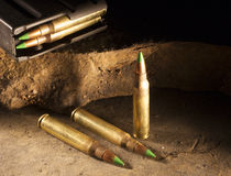 Green tipped bullets royalty free stock photography