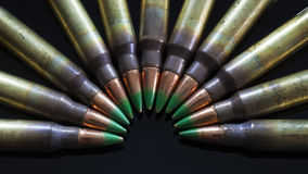 Green tipped cartridges royalty free stock photography