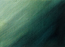Green to black gradient. Abstract acrylic painting Stock Photography