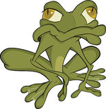 The green toad Cartoon Royalty Free Stock Photography