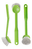 Green toilet brush Royalty Free Stock Image