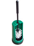 Green toilet brush. With clipping path included Royalty Free Stock Photos
