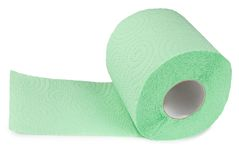 Green toilet paper Royalty Free Stock Photo