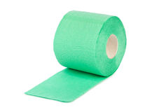 Green toilet paper Stock Photography