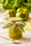 Green tomato jam royalty free stock image