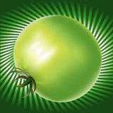Green Tomatoe with lines background Royalty Free Stock Photos