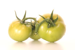 Green tomatoes. Are nice for salad Royalty Free Stock Photos