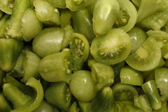 Green tomatoes. Image of home grown green cherry tomatoes Royalty Free Stock Photography