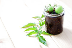 Green tomatoes jam Royalty Free Stock Images