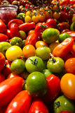 Green tomatoes at market Royalty Free Stock Image
