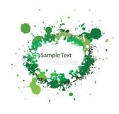 Green tone ink splash Royalty Free Stock Images
