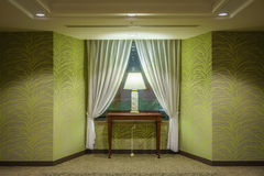 Green tone interior design of luxury room Royalty Free Stock Photos