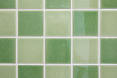 Green tone mosaic tiles Stock Photography