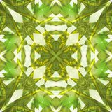 Green toned polished diamond abstract texture. Detailed shiny gem background illustration. Luxury fabric design sample. Textile pr Stock Photography